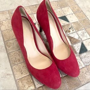 Cole Haan Nike Air Chelsea Red Suede Pumps Size 9!